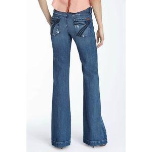 7FAM DOJO Trouser Leg Stretch Jeans Size 28